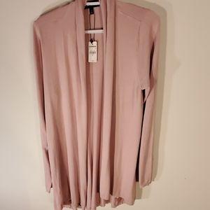 NWT Express Womens Pink Cardigan size xl